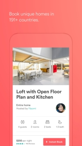 travel app airbnb rent apartment app