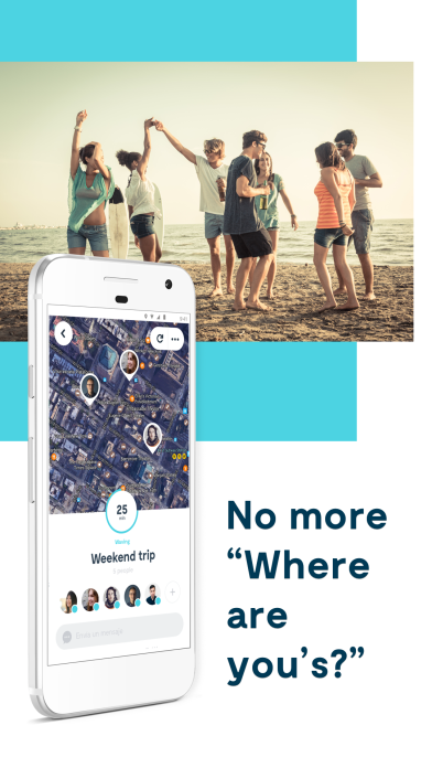 App to find friends sharing the location privately using GPS