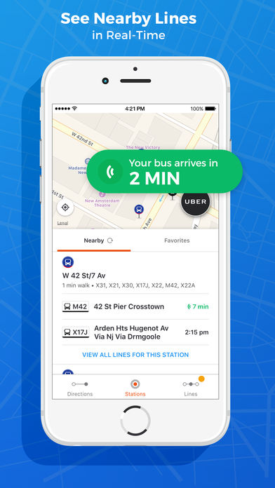App to find directions on a city using GPS