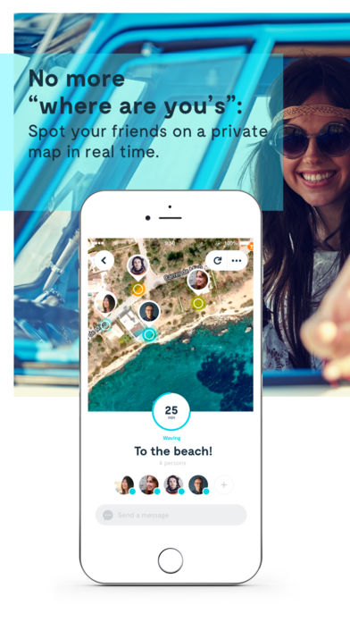 Wave Application app to share the location find friends